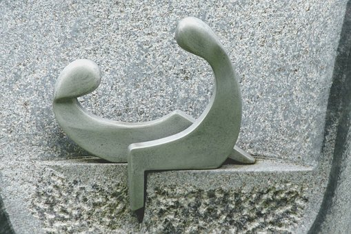 Pair, Cemetery, Harmony, Sculpture, Deco, Heavenly