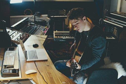 Studio, Songwriting, Music, Sound, Instrument, Singer