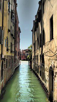 Venice, Italy, Venezia, Homes, Water, Building, Sky