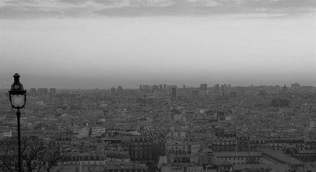Paris, Evening, Lights, Twilight, Light Reflections