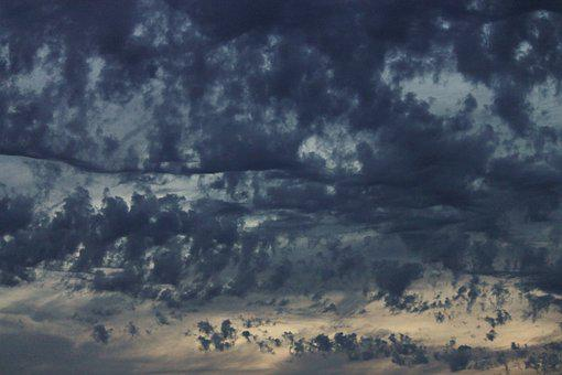 Rain Clouds, Wolkenspiel, Evening Sky, Cloudiness