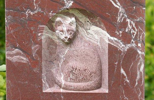 Cat, Cemetery, Harmony, Sculpture, Deco, Heavenly
