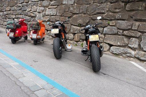 Motor Scooter, Vespa, Roller, Racing, Motorcycle