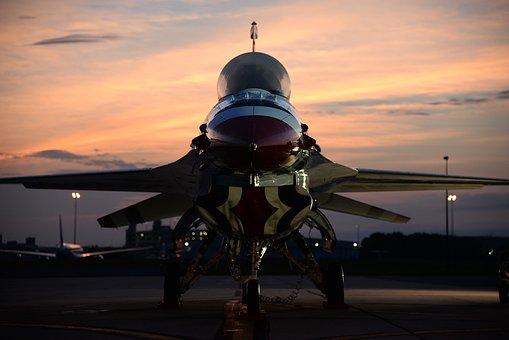 F-16 Thunderbird, Aircraft, Aviation, Fighting Falcon