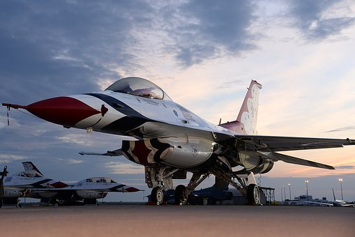 F-16 Thunderbird, Aircraft, Aviation, Fighting Falcon