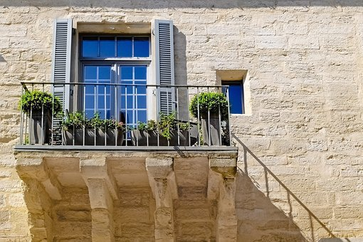 Home, House, Stone, Facade, Balcony, Ancient