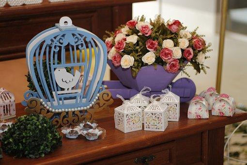 Decoration, Children's Party, Dove, Cage