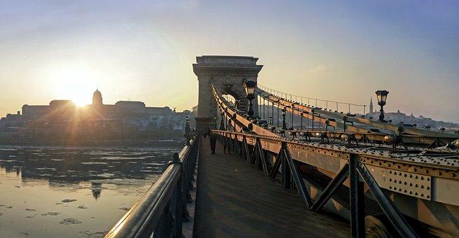 Budapest, Bridge, Chain Bridge, Panorama, Landscape