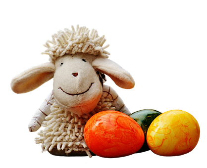 Sheep, Egg, Colorful, Spring, Easter, Decorated, Figure