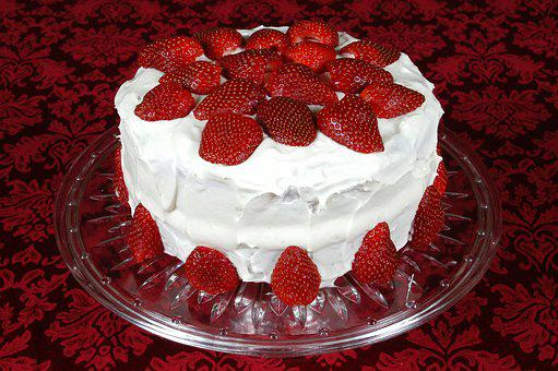 Cake, Strawberry, Dessert, Food, Sweet, Tasty, Fruit