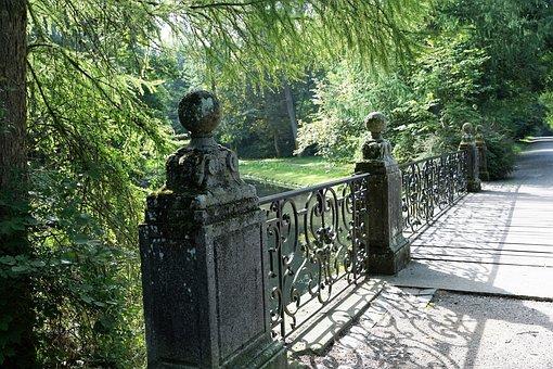 Park, Castle, Donaueschngen, Germany, Nature, Sculpture