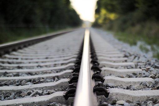 Railroad Tracks, Gleiße, Travel, Distant