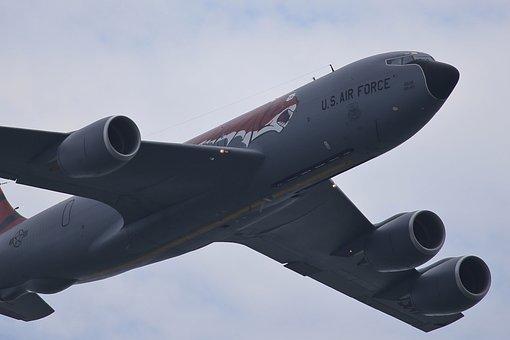 Stratotanker, Kc-135r, Flight, Aerial, Flying, Aircraft
