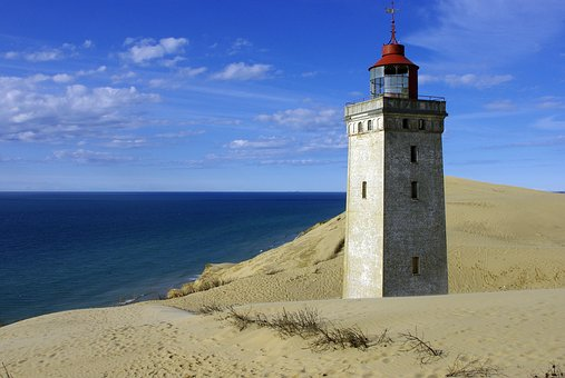 Rubjerg, Dune, Lantern, Lighthouse, Knude