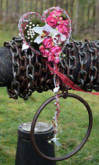 Wedding, Flowers, Heart, Kruihaspel, Necklace
