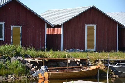 Nature, Summer, Seaside, Water, Fishing Village