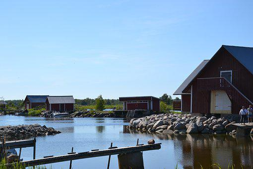 Summer, Seaside, Water, Fishing Village, Finland