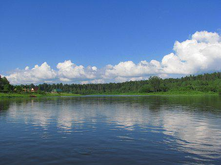The River Usva, Alloy, Sky, Blue, Open Space, Water