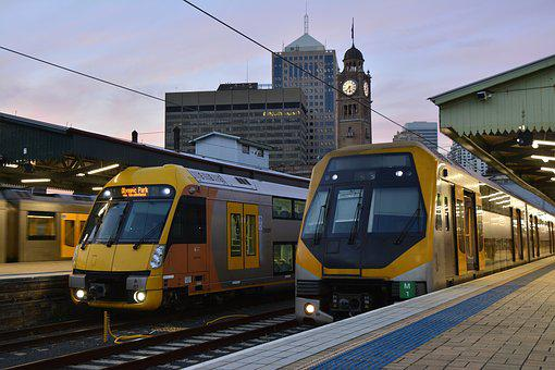 Sydney, Train, Travel, Australia, City, Station