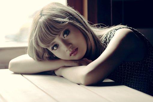 Model, Women, Close Up, Make Up, Light