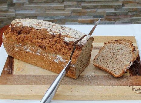Bread Cutting, Fresh Bread, Homemade