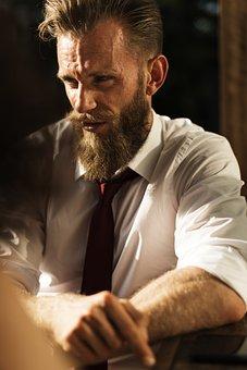 Beard, Business, Businessman, Confidence, Corporate