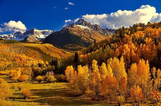 Colorado, Fall, Autumn, Colorful, Foliage, Mountains
