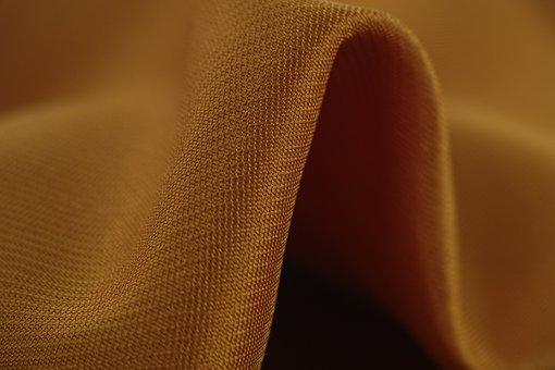 Yellow, Fabric, Copy Space, Macro, Horizontal, Close-up