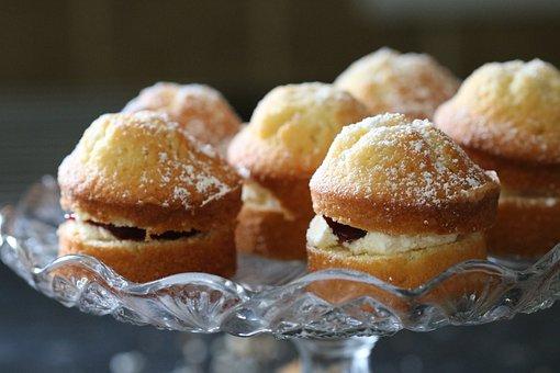 Cakes, Victoria Sponge, Dessert, Jam, Cream, Homemade