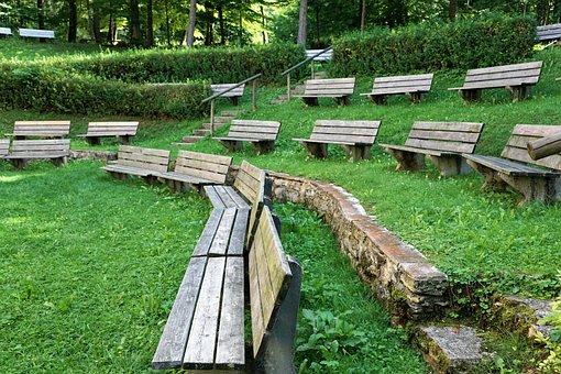 Bank, Garden, Field, Meadow, Nature, Worship, Forest