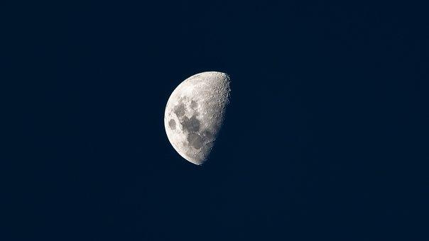 Moon, Space, Telescopic, Astrophotography, Night