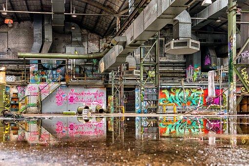 Lost Places, Pforphoto, Leave, Building, Factory