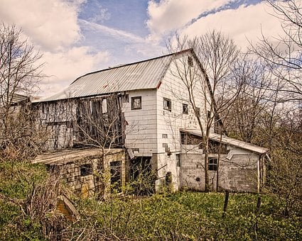 Barn, Old, Ohio, Rural, Country, Champaign County