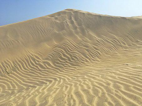 Desert, Sand Dune, Sand, Canary Islands, Dune, Heiss
