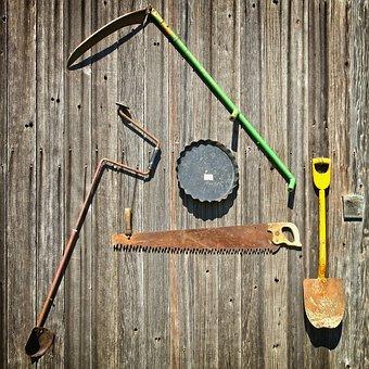 Tools, Farm Tools, Shovel, Saw, Farm, Agriculture