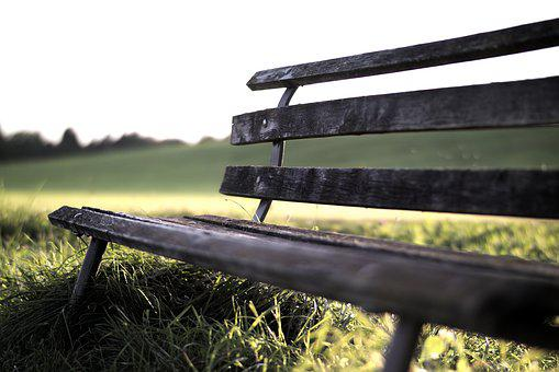 Bank, Rest, Sunset, Wooden Bench