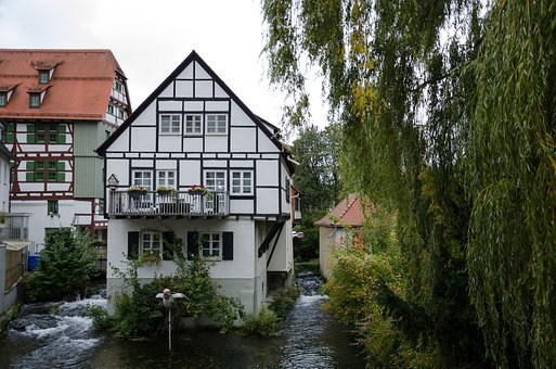 Ulm, City, Germany, Truss, Architecture, Old Town