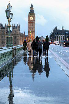 London, Bridge, Parliament, Big Ben, River, Urban