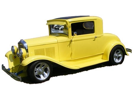 Car, Plymouth Coupe, Plymouth, Yellow, 1930, Coupe