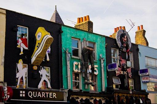 Camden, London, District, Market, Colors, Color, Pop