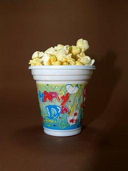 Popcorn, Corn, Pop, Box, Bucket, Cinema, Bag