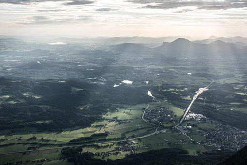Salzburg, Morning Sun, Mood, Gaisberg, Nockstein