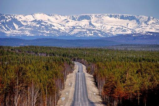 Russia, Landscape, Scenic, Mountains, Sky, Snow