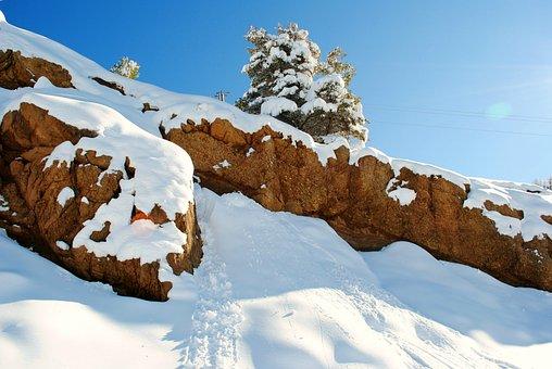Snow, Rocks, Nature, Landscape, Winter, Mountain, Range