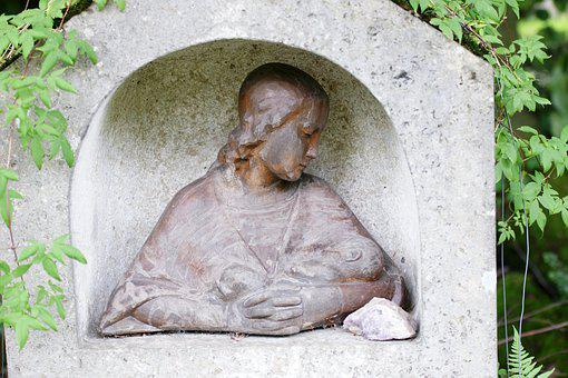 Mother With Child, Art, Sculpture, Stone, Artwork