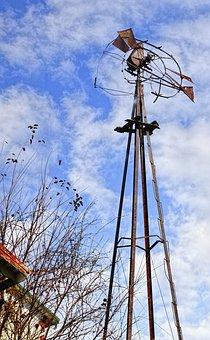 Barn, Rustic, Barns, Windmill, Dilapidated, Forgotten