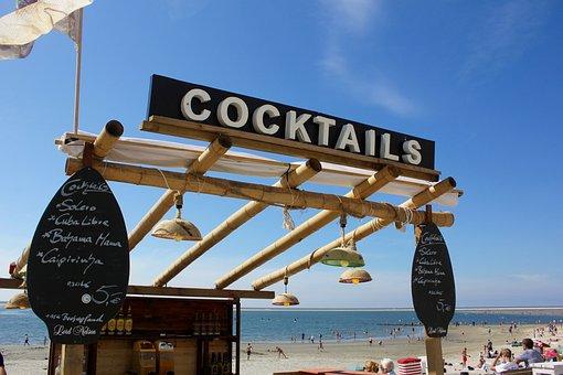 Cocktail, Beach, Holiday, Sea, Borkum, Summer, Water
