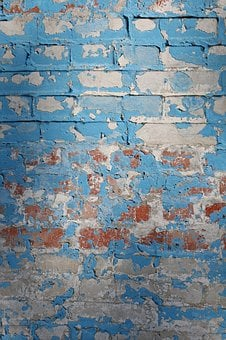 Background, Brick Wall, Blue, Brickwork, Wall, Brick
