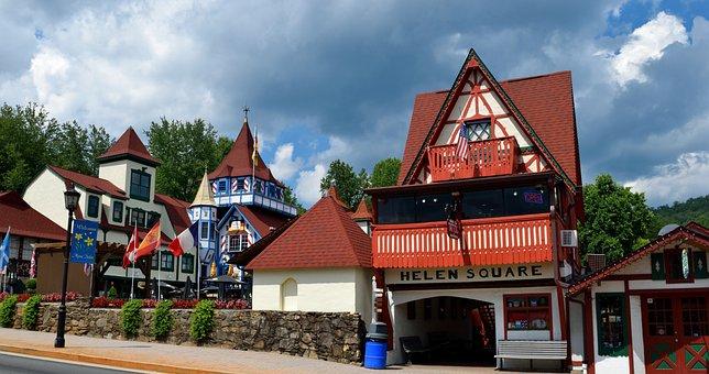 Helen Georgia, Alpine Village, German Town, City