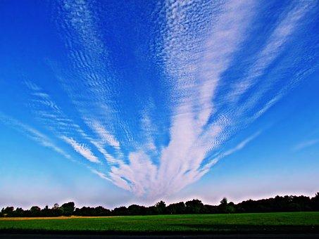 Sky, Clouds, Meadow, Cloud, The Sun, Cloud Cover